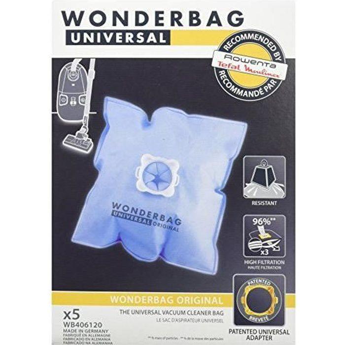 Wonderbag WB406120 boite de 5 Sacs aspirateur Wonderbag Classic WB406120