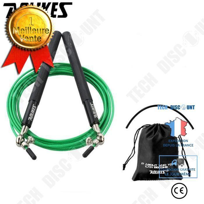 TD® Vitesse Corde à sauter en acier réglable par câble Fitness exercice Crossfit boxe entraînement accessoire sport gym