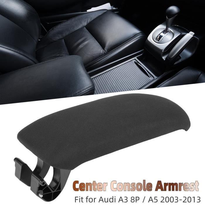 Couvercle d'accoudoir de Console centrale en tissu noir de voiture pour Audi A3 8P - A5 2003-2013 8P0864245P YES25