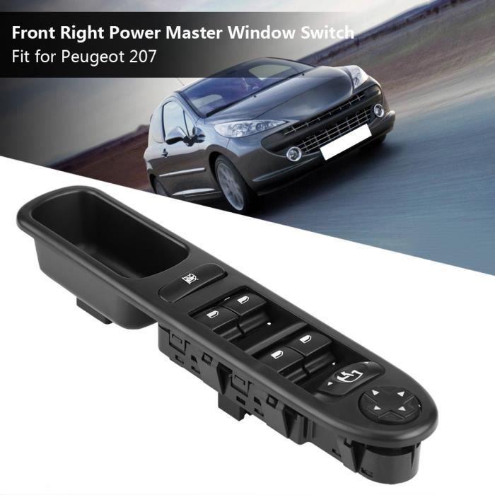 Bouton Interrupteur Commande Lève-vitres avant droit Pour Peugeot 207 6490.EH ABI25