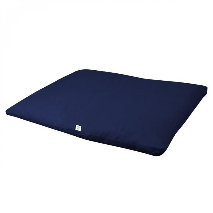Zabuton, tapis de méditation, yoga - 70 x 90 x 4 cm - Bleu