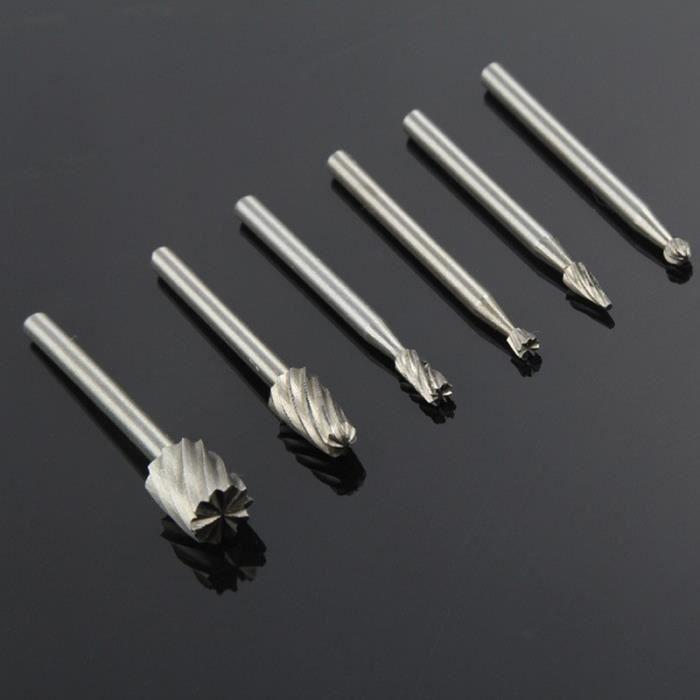 Set 10pcs en acier Tungstène Carbure de meules pour outil rotatif perceuse diamant Burr