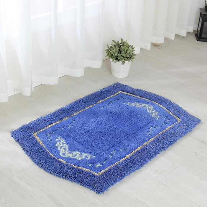 tapis de sol tapis entr e epais qualit tapis chambre tapis salon anti d rapage absorbant bleu. Black Bedroom Furniture Sets. Home Design Ideas