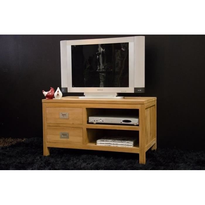 meuble tv en teck naoma 90 cm achat vente meuble tv meuble tv en teck naoma. Black Bedroom Furniture Sets. Home Design Ideas
