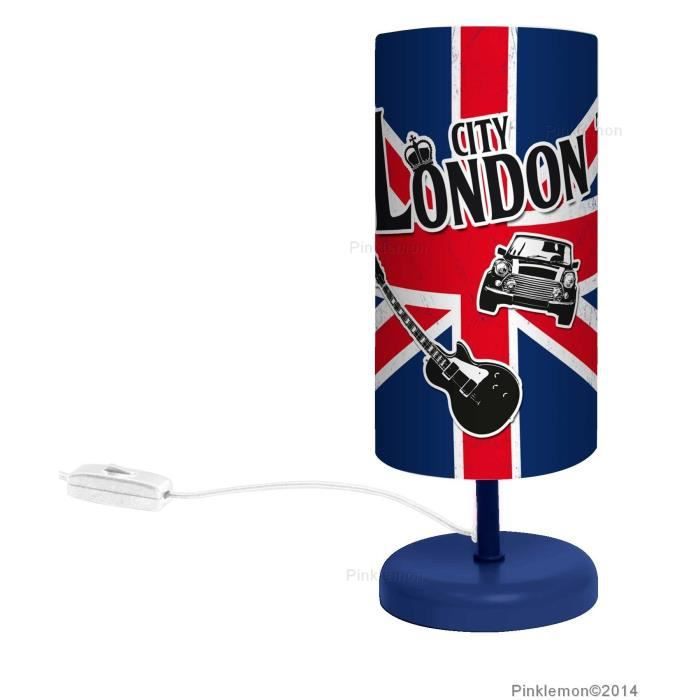 Lampe de chevet london d co luminaire londres uk achat vente lampe de ch - Deco de chambre london ...
