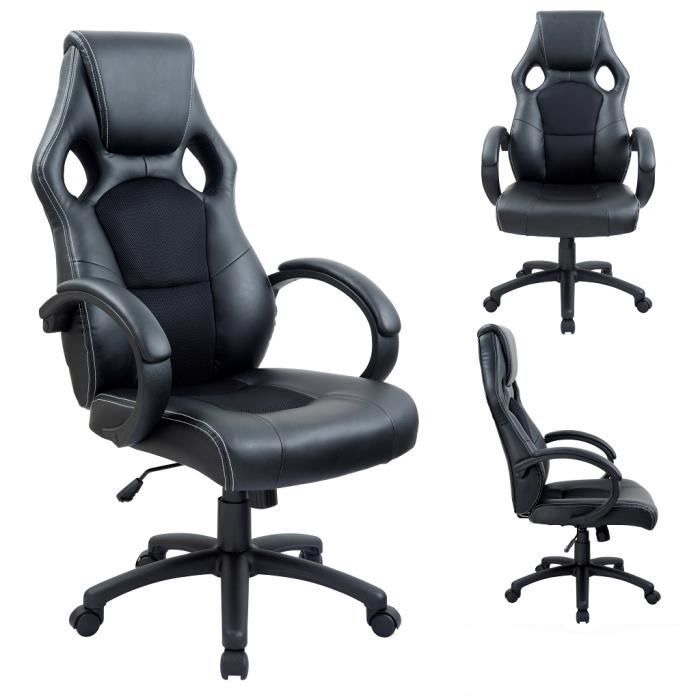 si ge fauteuil de bureau chaise ergonomique achat vente chaise de bureau soldes d t. Black Bedroom Furniture Sets. Home Design Ideas