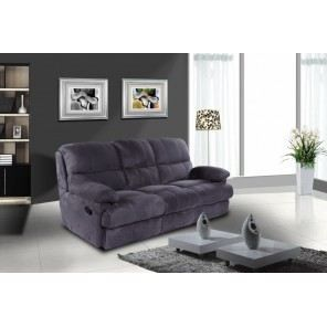 canap 3 places relax microfibre coloris gris achat vente canap sofa divan tissu. Black Bedroom Furniture Sets. Home Design Ideas