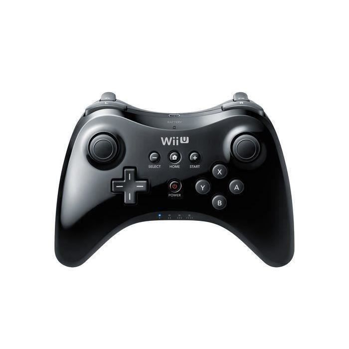 CONSOLE WII wii Manette Classique Wii U Pro Noire Y00209