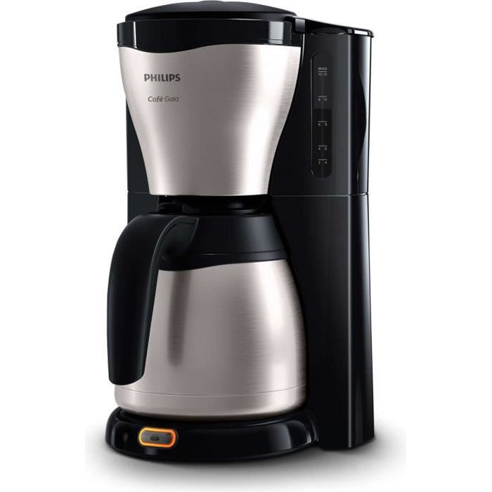 philips hd7546 20 cafeti re filtre avec verseuse isotherme caf gaia inox achat vente. Black Bedroom Furniture Sets. Home Design Ideas