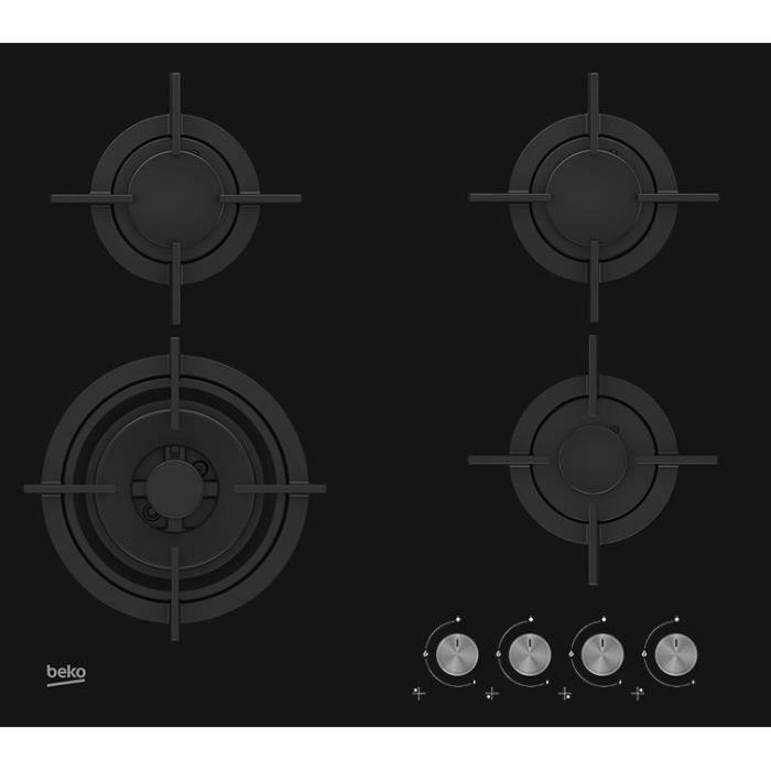 PLAQUE GAZ BEKO - HILW62202SB - Table de cuisson Gaz - 4 foye