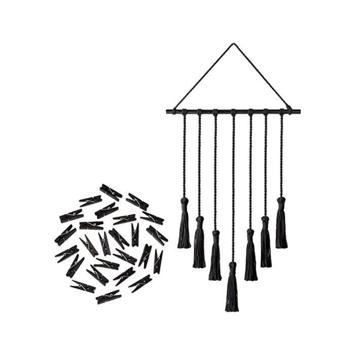 Tapisserie Boho en Coton Tiss/é /À La Main Tenture Murale Tapisserie en Macram/é avec /Étag/ère pour Art D/écoration De La Maison De Dortoir Dappartement