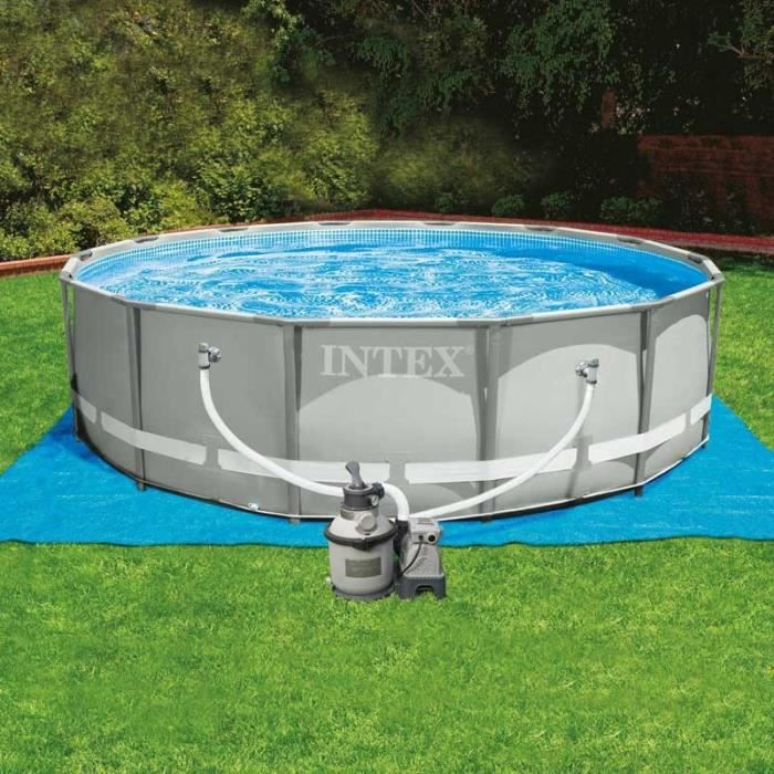 Piscine tubulaire intex 4 27 x 1 22 m achat vente for Piscine ronde intex