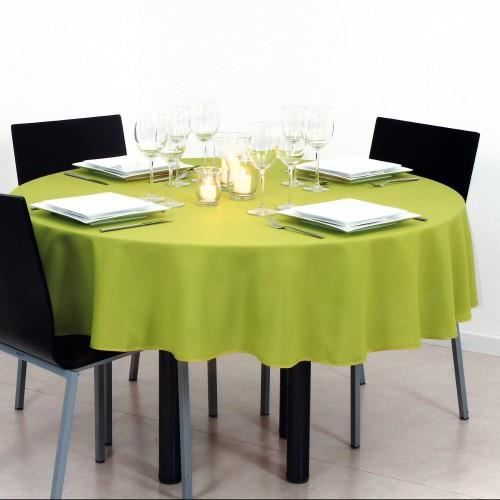 nappe ronde verte table de cuisine. Black Bedroom Furniture Sets. Home Design Ideas