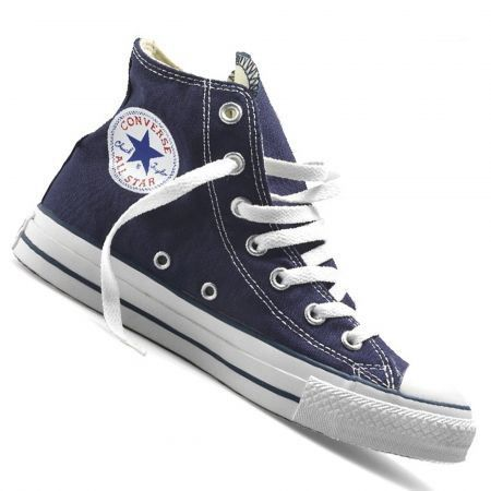 baskets converse all star hi en bleu bleu achat vente basket cdiscount. Black Bedroom Furniture Sets. Home Design Ideas