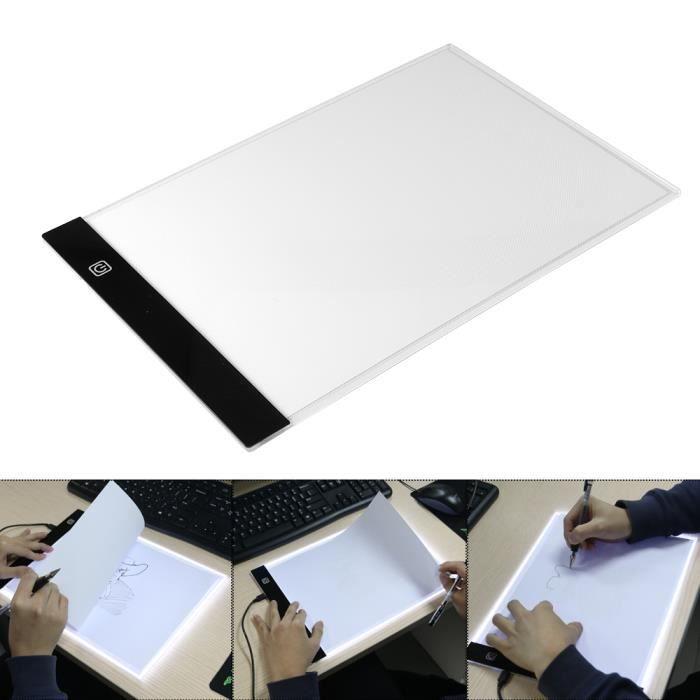 Tablette Lumineuse A4 Luminosité Réglable LED Pad Ultre-Mince Planche à Dessin