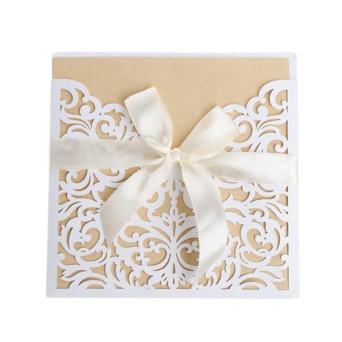 10 Pcs Faire Part De Mariage Telle Carte Invitation Mariage Avec Enveloppe Carte Voeux Mariage Chic Pour Mari