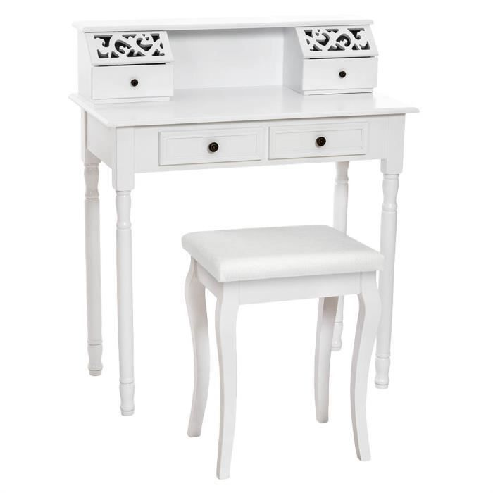 coiffeuse meuble table de maquillage secr taire commode. Black Bedroom Furniture Sets. Home Design Ideas
