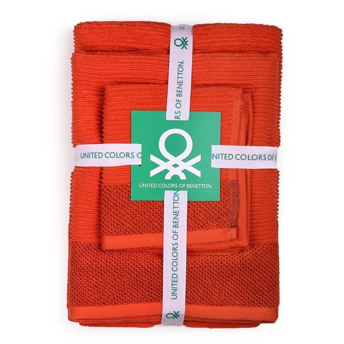 Rouge Serviette de toilette personnalisée 30 x 50 cm