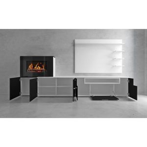 meuble tv avec cheminee achat vente pas cher. Black Bedroom Furniture Sets. Home Design Ideas