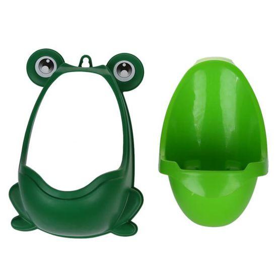 pissotiere Motif Grenouille de Grande Capacit/é avec 1M de Tuyau pour Enseigner au bebe garcon /à Aller au Toilette PiPi Urinoir Enfant Portable Pissoir Enfant vert
