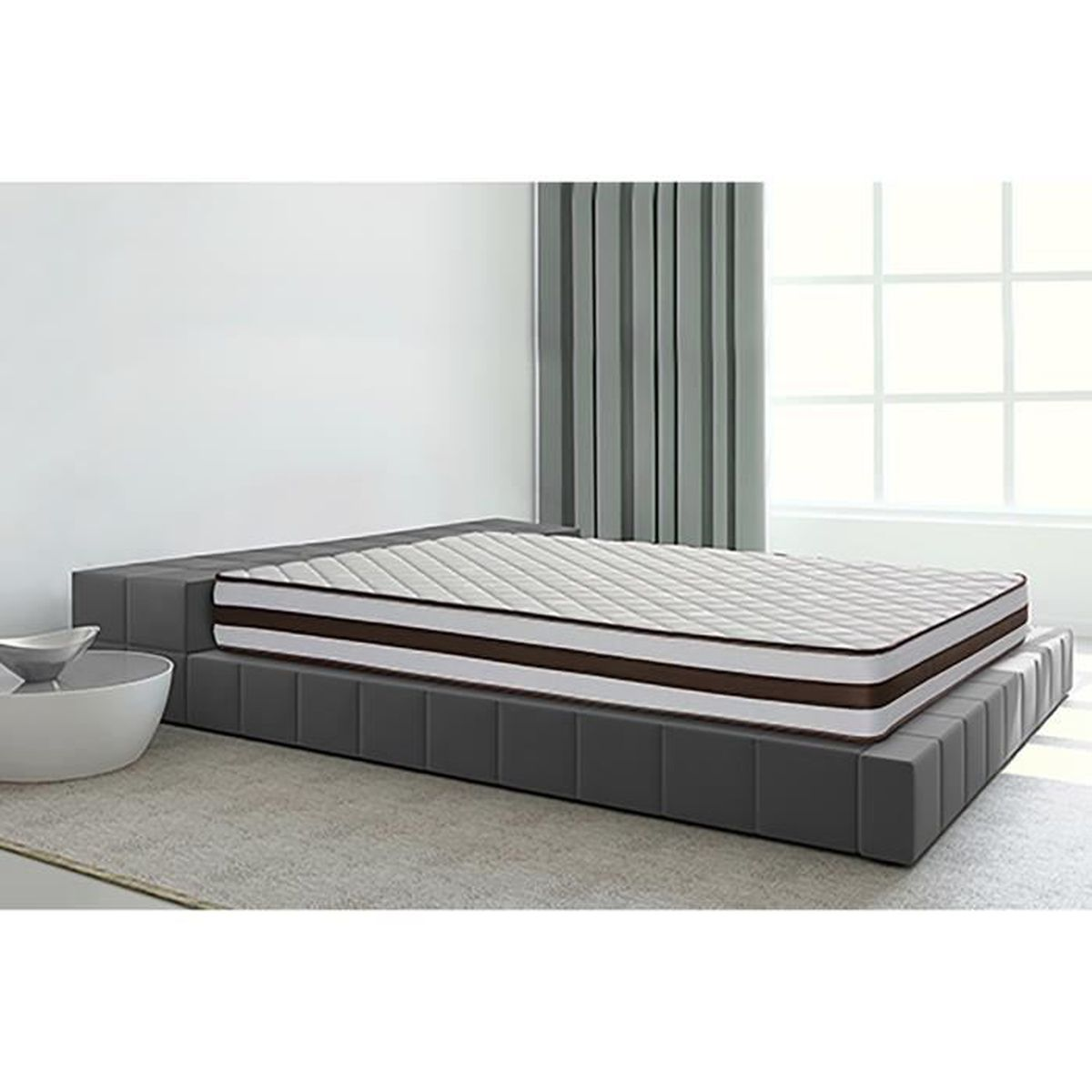 matelas visco grafeno 22cm 2cm visco 100x190cm achat vente matelas soldes d s le 10. Black Bedroom Furniture Sets. Home Design Ideas
