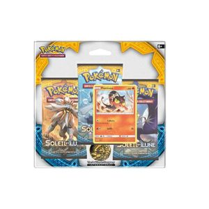 CARTE A COLLECTIONNER Pack 3 boosters Pokémon + Carte Flamiaou - SL 1 -