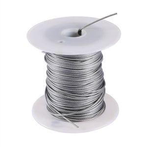 50 M de c/âble en pVC 2//3 mm-tRANSPaRENT-c/âble en fil dacier galvanis/é