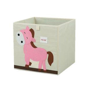 Canvas Boîte de rangement avec couvercle souple caisse emballages en carton Dinosaures