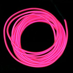 AMPOULE - LED Flexible Neon Light Glow EL Wire Rope Tube Car Bar