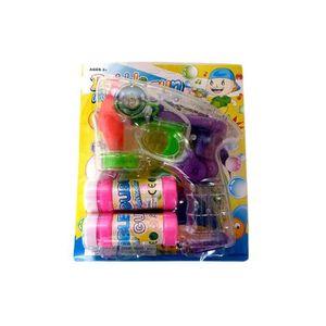 BULLES DE SAVON Pistolet à bulles de savon lumineux et sonore 15cm