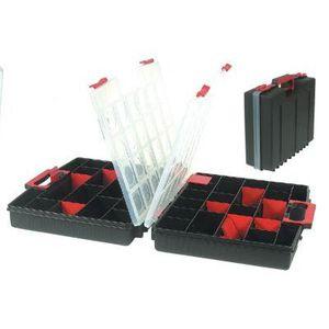 BOITE A COMPARTIMENT Mallette de rangement double 52 casiers modulables