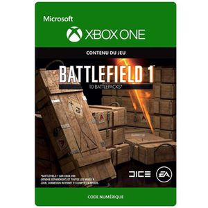 EXTENSION - CODE DLC Battlefield 1: 10 Battlepacks pour Xbox One