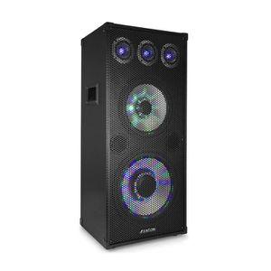 ENCEINTE ET RETOUR Fenton TL1012 LED Enceinte sono DJ passive 3 voies