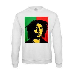 Wellcoda Bob Marley Souriant Homme Sweat /à Capuche C/él/èbre/ Sweat /à Capuche d/écontract/é