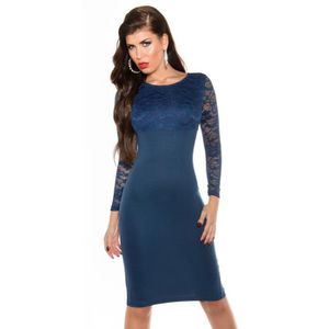 ROBE robe longue bleu marine soirée sexy femme manches
