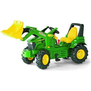 TRACTEUR - CHANTIER ROLLY TOYS Tracteur à pédales John Deere avec pell