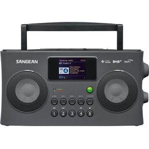 RADIO CD CASSETTE SANGEAN WFR29C Radio portable Fusion - Gris