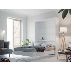 LIT ESCAMOTABLE SMARTBett Standard 140x200 vertical blanc avec res