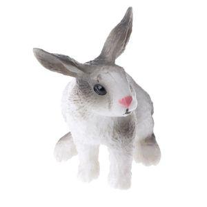 Animal Réaliste Zoo Animal Sauvage Figurine Animale Pour Décoration De Fête D Anniversaire Enfants Lapin Gris