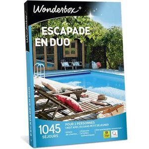 COFFRET SÉJOUR Wonderbox - Coffret cadeau - Escapade en duo - 104