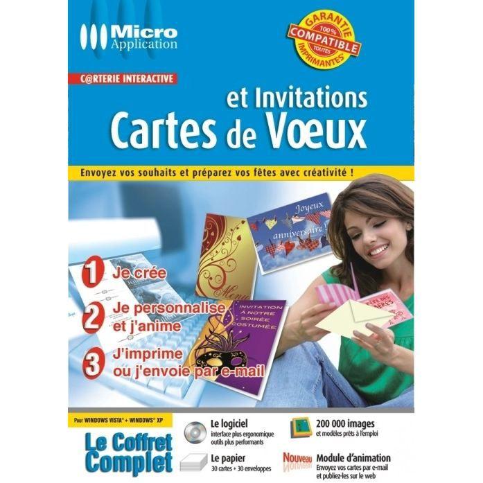 logiciel carte de voeux et invitation gratuit CARTES DE VOEUX ET INVITATIONS / LOGICIEL PC DVD R   Prix pas cher