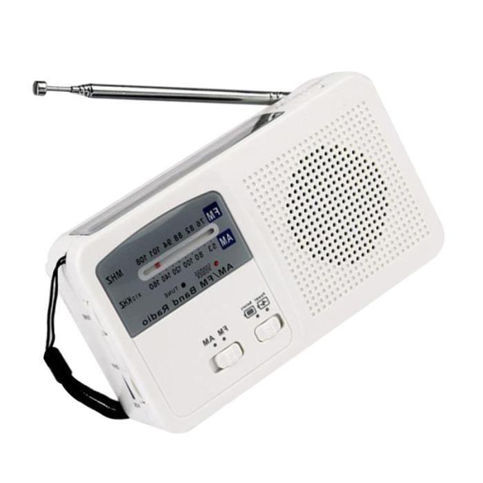 Portable Radio d'urgence Utile avec batterie solaire et Powered manivelle auto USB recharge FM - RADIO CD - RADIO CASSETTE - FM