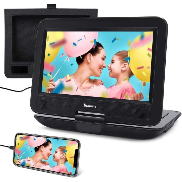 Lecteurs DVD portables Naviskauto Lecteur DVD Portable Voiture 10.1 Pouce pour Enfant Supporte HDMI Input,Vidéo Full HD, 5849