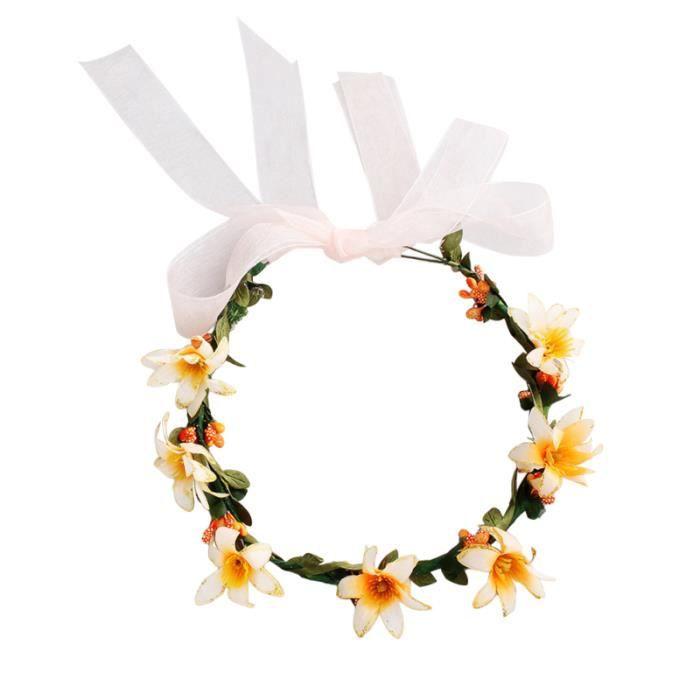 1 Pc couronne bandeau rotin fait à la main exquis matin gloire cheveux accessoires BANDEAU - SERRE-TETE - HEADBAND - HAIRBAND
