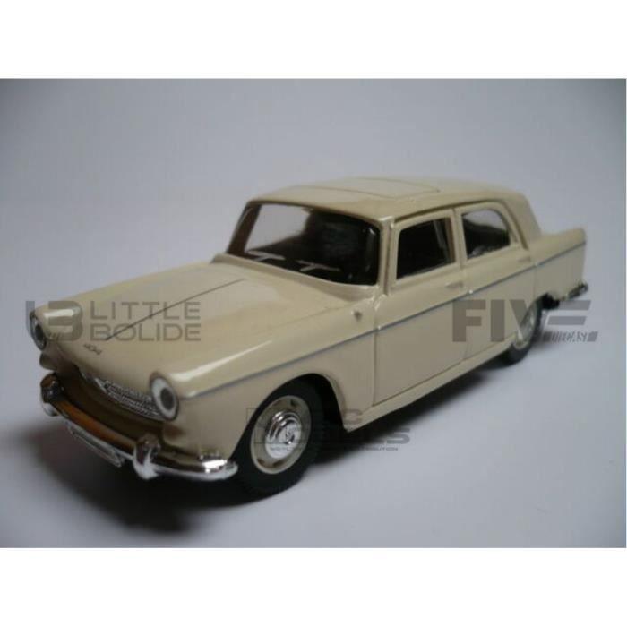 Voiture Miniature de Collection - NOREV 1/64 - PEUGEOT 404 - 1961 - White - 310612