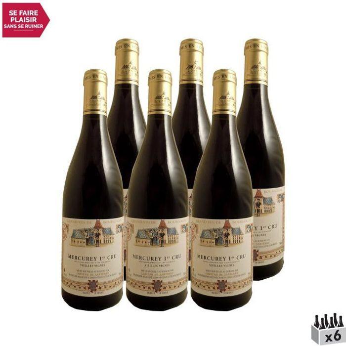 Mercurey 1er Cru Vieilles Vignes Rouge 2019 - Lot de 6x75cl - Château de Santenay - Vin AOC Rouge de Bourgogne