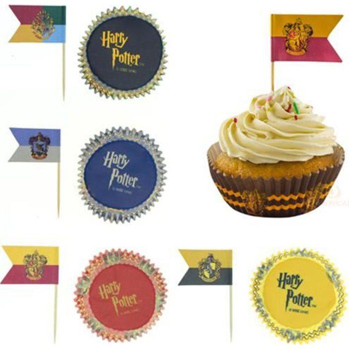 Lot de 100 décorations pour cupcakes - Harry Potter
