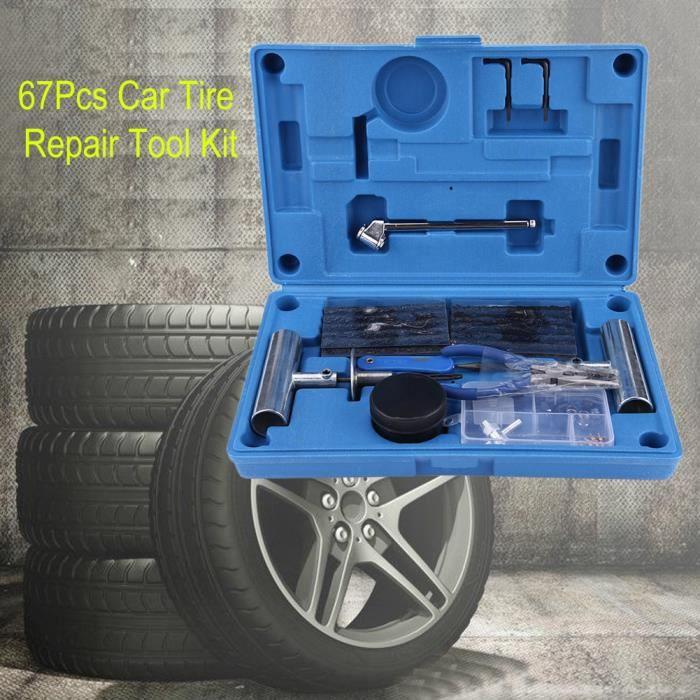 67PCS Kit Des outils de Réparation pour Pneu de Voiture Van Moto Vélo D'urgence -BOH