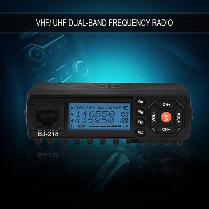 Garosa radio mobile bi-bande Mini voiture automatique Radio FM mobile VHF / UHF émetteur-récepteur de véhicule double bande