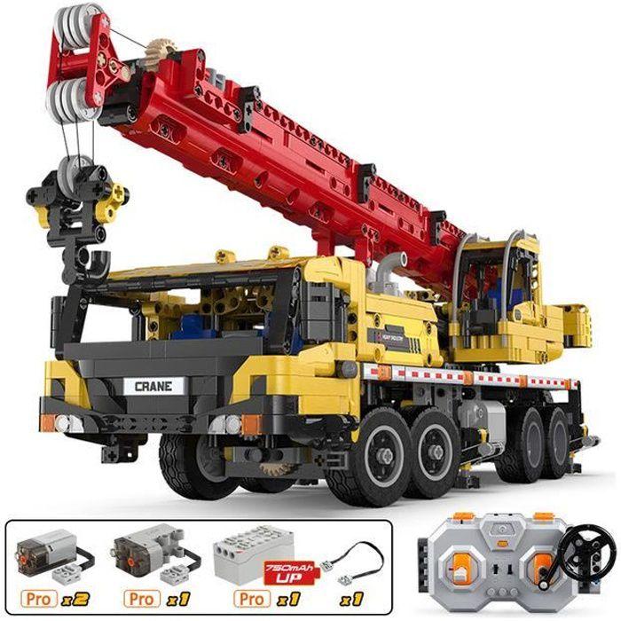 véhicule d'ingénierie télécommandé, camion, blocs de construction de grue, voiture RC technique jouets de bricolage pour enfants